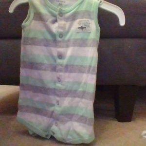 carter's shark onesie for 6 MO